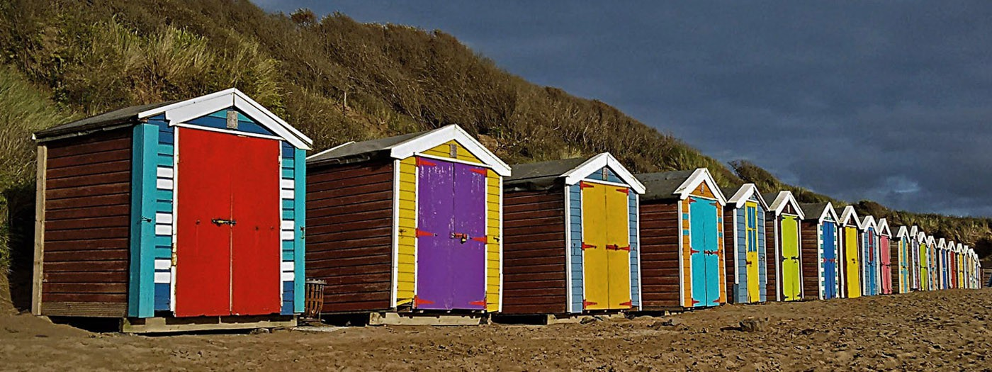 The United Colours of Beach Huts by Martin Haskell